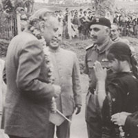 Brigadier Hari Singh with Governor of Assam at Along in 1969