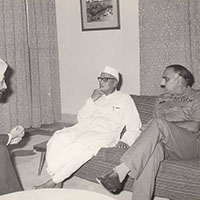 Brigadier Hari Singh with Governor of Punjab at Pathankot in 1973